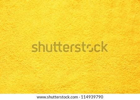 Beautifully Lit Yellow Fabric Texture - stock photo