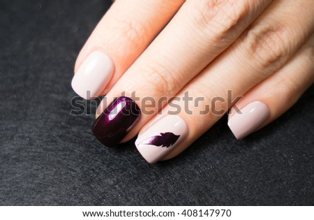 Beautifully manicured fingernails - stock photo