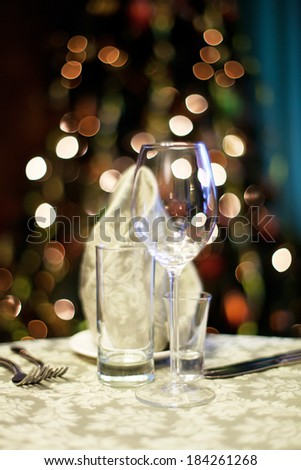 Beautifully served table in a restaurant - stock photo