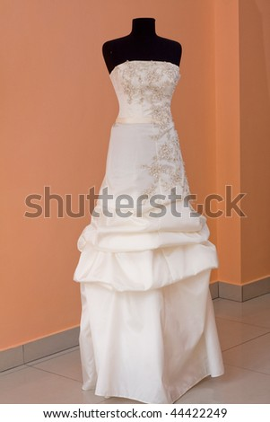 beautifully sewn wedding dress