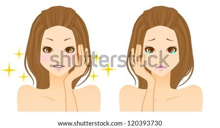 Beauty acne skincare - stock photo