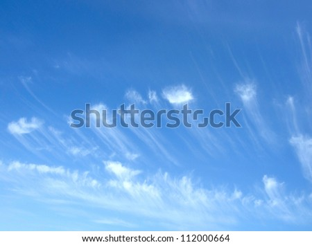 beauty blue sky - stock photo