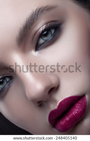 beauty brunette girl  - stock photo