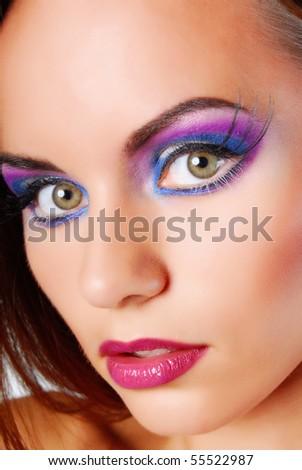 Beauty color makeup - stock photo