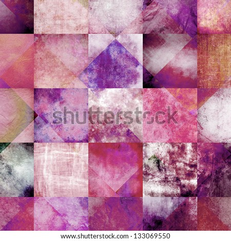beauty concept stylish vintage background, weathered old paper texture - stock photo