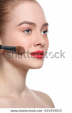 Face primer stock images royalty free images vectors shutterstock beauty cosmetics finish make up powder brush woman applying base foundation ccuart Choice Image