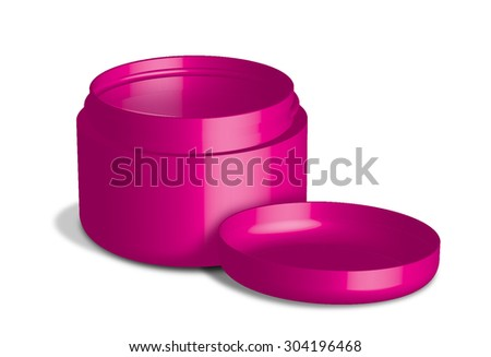 beauty cream container on white background