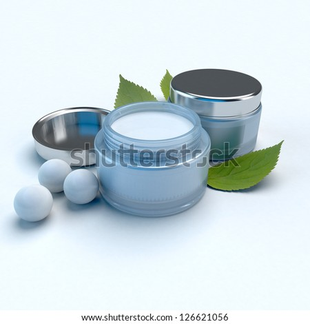 Beauty creams composition with pearls and herbs
