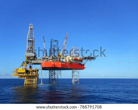 Beauty drilling rig on platform