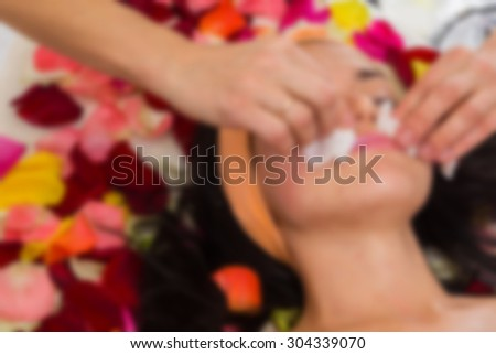Beauty, face care. blurred Background