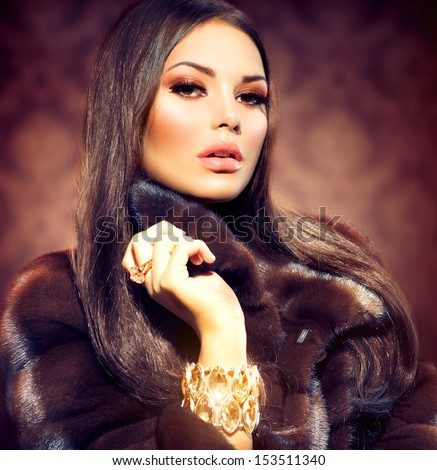 Fur coat stock photos images pictures shutterstock for Luxury women