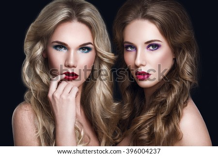Beauty Fashion Portrait of Glamorous Women Fashion Models