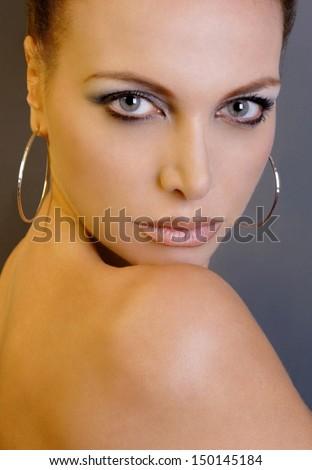 Beauty Female Face - stock photo