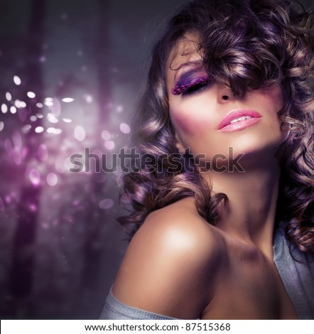Beauty Girl.Fashion Art Woman Portrait
