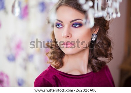Beauty Girl. Fashion Woman Portrait - stock photo