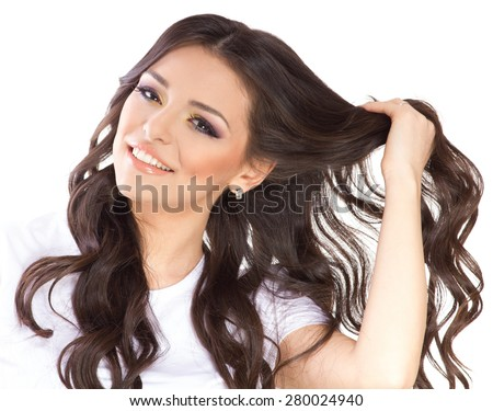 Beauty girl with healthy hair