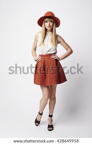 Beauty in boho chic, portrait - stock photo
