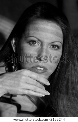 Beauty in Shadows - stock photo