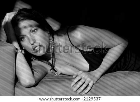 Beauty in Shadows, Black and White - stock photo