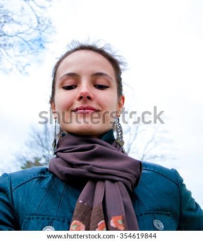 Beauty Joy Portrait  - stock photo