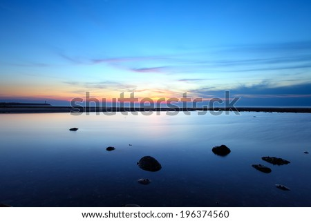 Beauty landscape with sunset in Taiwan  - stock photo