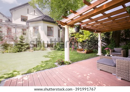 Verandah stock images royalty free images vectors for Beauty residence