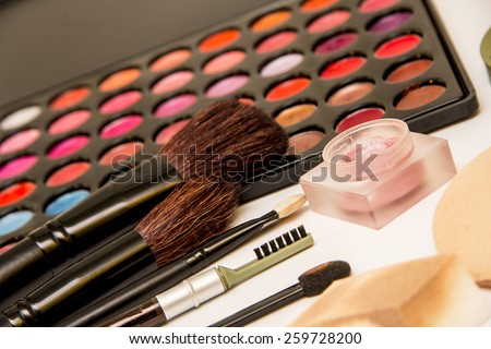 Beauty Make Up Products - stock photo