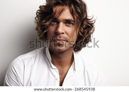 beauty man - stock photo