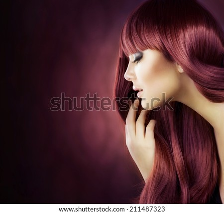 Beauty Model girl with Healthy Hair. Beautiful woman with long smooth shiny straight hair. Hairstyle. Hair cosmetics, haircare