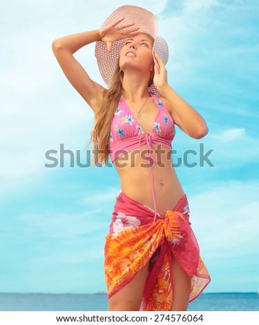 Beauty Model Summer  - stock photo
