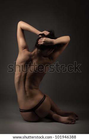 beauty nude woman - stock photo