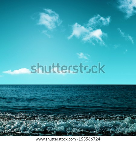 Beauty ocean. Abstract environmental backgrounds - stock photo