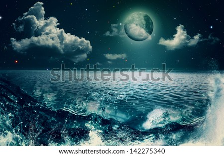 Beauty Ocean, abstract natural backgrounds for your design - stock photo