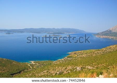 Beauty of Adriatic sea, Croatia - stock photo