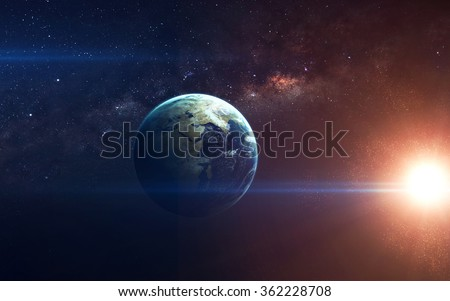 Beauty of planet Earth Infinite space with nebulas and stars. This image elements furnished by NASA - stock photo