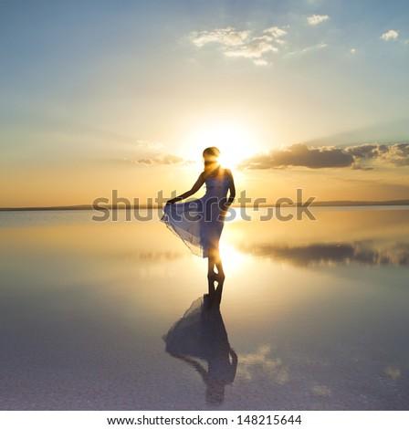 Beauty on water - stock photo