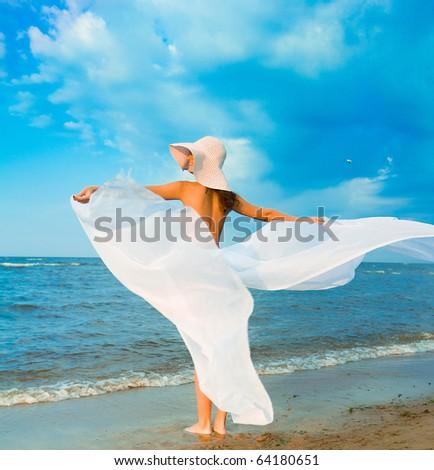 Beauty Outside Woman - stock photo