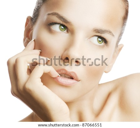 Beauty photo of an Caucasian model - stock photo