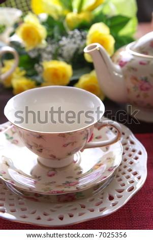 Beauty porcelain pottery - stock photo