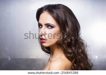 Beauty portrait of a young and gorgeous woman - stock photo