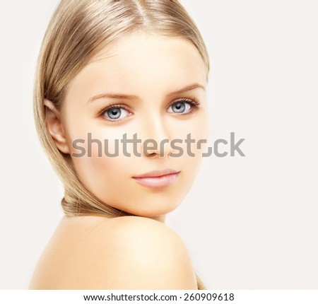 Beauty portrait of a young girl.  - stock photo