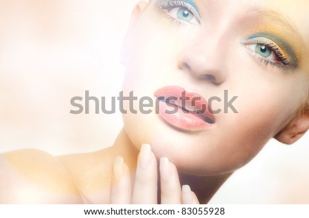 Beauty portrait of young lady