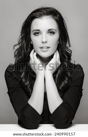 beauty portrait of young woman shot in the studio