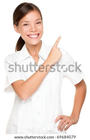 Beautician uniform stock photos images pictures for Spa employee uniform