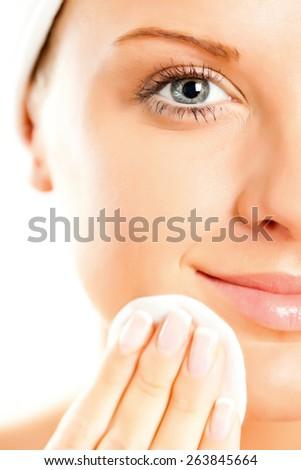 Beauty skin care  - stock photo