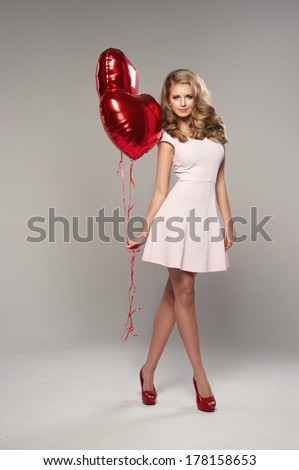 Beauty smile woman with balloon