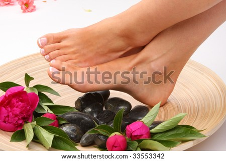 Beauty treatment photo of nice feet
