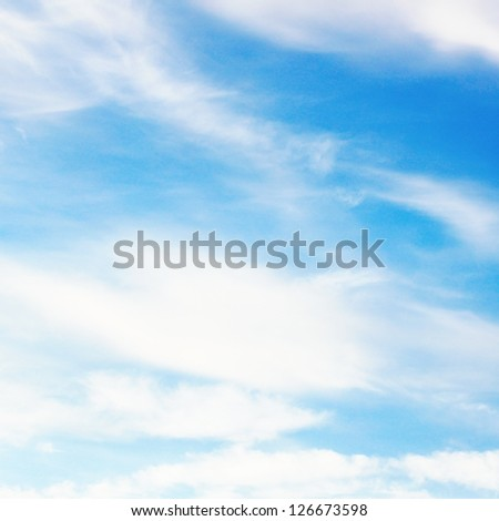 Beauty white and blue sky - stock photo