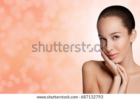 Beauty Woman. Beautiful Young. Healthcare. Perfect Skin. high definition
