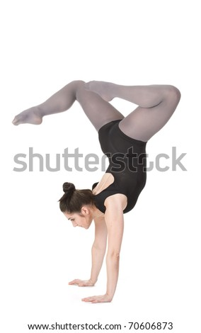 Beauty woman dancer on white background